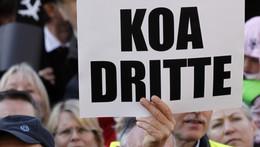 """Die Münchener wollten """" KOA DRITTE""""."""